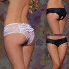 HOT WOMEN SEXY BLACK OR WHITE OPEN CROTCH CROTCHLESS KNICKERS PANTIES SIZE