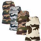Duke Corps Military Camouflage Singlet Cotton Gym Vest Camo Tank Top RRP £12.99