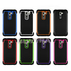 Hot Hybrid Rugged Rubber Matte Hard Case Cover Skin For Android Phone LG G2