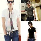 Bonne marche Fashion hommes T-shirt pur coton Men sexy T-Shirt Base Shirt