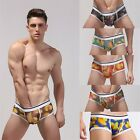 Mens Mesh Breathable Sexy Sheer Hipster Boxer Brief Underwear Transparent
