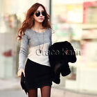 Fashion Womens Long Sleeve Bodycon Slim Knitting Dress Jumper Tunic Sweater Tops