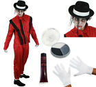 MENS DELUXE ZOMBIE JACKO COSTUME POP KING HALLOWEEN FANCY DRESS DEAD CELEBRITY