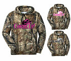 Cowgirl Up Camo Hoodie Country Girl Hat Outdoor Hunt Ladies Women Pink Cold S-3X