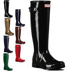 Womens Hunter Original Tour Gloss Wellingtons Wellies Winter Rain Boots UK 3-9