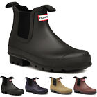 Mens Hunter Original Dark Sole Chelsea Waterproof Wellies Ankle Boots UK 6-12