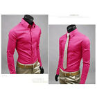 Fashion Mens Luxury Stylish Casual Dress Slim Fit T-Shirts Casual Long Sleeve US