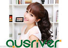 Fashion Sweet 3Colours 38CM Wavy Curly Synthetic Women Lady Wig Fluffy Ponytail