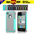 New Heavy Duty Tough Hard Armor Case Cover for Apple iPhone 4S 4