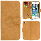 New Leather Flip Wallet Flower Case Cover For APPLE iPod Touch 5 5th Gen 5G