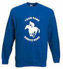 HORSE PERSONALISED JUMPER - RACING HORSE HORSE RIDING SWEATSHIRT SIZES S-XXL