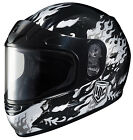 HJC Youth Silver/Grey/Black CL-Y Flame Face Dual Lens Shield Snowmobile Helmet