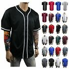 Mens Baseball Jersey Team Uniform Sports Raglan Fashion Tee Casual Plain T-Shirt