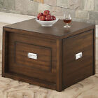 Chocolate Brown Occasional End Table with Hidden Tray Folding Coffee Table