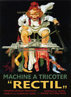 Girl Sew Sewing Machine Tricoter Rectil Paris French Vintage Poster Repo FREE SH