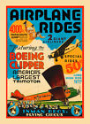 Flying Circus Airplanes Rides Boeing Clipper USA Vintage Poster Repro FREE S/H