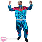ADULT SHELL SUIT FANCY DRESS COSTUME CHAV 1980S SHINY TRACKSUIT MENS WOMENS