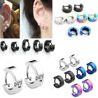 Womens Mens Stainless Steel Hoop Huggies Ear Studs Earring Punk Gothic Jewelry
