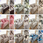 100% COTTON SOFA PROTECTOR SETTEE ARM CHAIR COVER FURNITURE THROWS 9 COLORS
