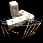 WHITE MODESTY BLOCK FURNITURE BLOCKS + 4.0 x 25mm WOOD SCREWS FIXIT CABINETS