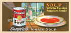 Campbells Tomato Soup Kitchen Sunniest Smile American USA Poster Repo FREE S/H