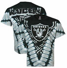 Oakland Raiders V-Dye Liquid Blue NFL T Shirt SHIPS FAST