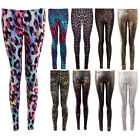 Womens Snake Leopard Multicoloured Multi Camo Casual Stretch Bright Leggings