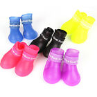 4Pc Pet Small Dog Teddy New Rain Boots Shoes slip waterproof S/M/L 6 Colors AD22