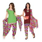 Triveni Trendy Printed Polyester Salwar Kameez With Two Tops
