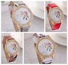 2015 New Brand Fashion Casual Women's Watches Diamond Rose Leather  Wristwatches