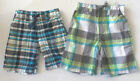 Carter's Toddler Boys Plaid Shorts 2 Color Choices Sizes 2T, 3T and 4T NWT
