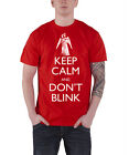 Doctor Who - T-Shirt Keep Calm Don't Blink (rouge) -  En licence officielle