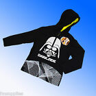 Official Genuine Star Wars Darth Vader Darkside Hooded Top T Shirt Age 6-15 Yrs