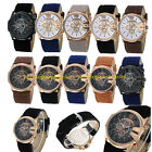 HQ Men's Luxury Sport Military Digital Dial Leather Strap Quartz Wrist Watch