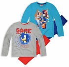 Boys Long Sleeved Sonic The Hedgehog Pyjamas New Kids Nightwear PJ Set Ages 3-8