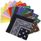 BMC 12pc Multicolor Cotton Fabric Extra Large 21 Inch Square Bandannas