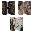 HEAD CASE DESIGNS POLYSKETCH LEATHER BOOK WALLET CASE COVER FOR SAMSUNG PHONES 1