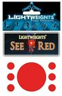 Lightweights See Red Self Adhesive Reflective Dots Scotchlite 3M Stickers
