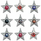 NFL Teams Silver Star Christmas Ornament - Pick Your Team