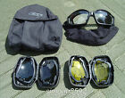 BRITISH ARMY SURPLUS ESS V12 ADVANCER GOGGLES YELLOW,BLACK,CLEAR LENSES-PARA/SAS