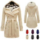 Womens Lady Warm Winter Double-breasted Hooded Long Section Jacket Outwear Coat