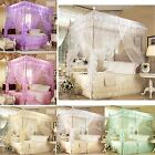 Lace Flower 4 Corners High QC Post Bed Canopy Mosquito Net All Sizes 4 Colors image