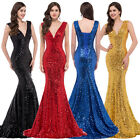 2015 new Wedding Formal Bridesmaid Sequins Mermaid Party Prom Gown Evening Dress