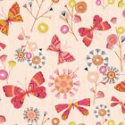 BUTTERFLIES PASTEL PINK - NATURE TRAIL by DASHWOOD 100% COTTON FABRIC butterfly