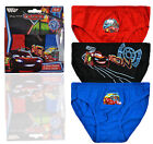 Boys Official Disney Pixar Cars Briefs New Kids 3 Pack Of Briefs Ages 2-6 Years