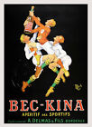 Blond Boys Men Sports Drink Bec Kina France French Vintage Poster Repro FREE S/H