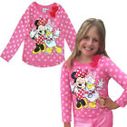 Official Disney Girls Long Sleeved Top Minnie Mouse & Daisy Duck Kids T Shirt