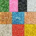 MULTICOLOR 10 COLORS 25G 2MM GLASS TUBE BUGLE BEADS SMALL LOOSE WHOLESALE BEADS