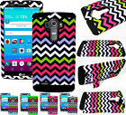 For LG G4 - HARD SOFT RUBBER HYBRID ARMOR COVER CASE COLORFUL CHEVRON WAVE TRIBE