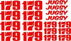 Race Number Name Vinyl Sticker Decals, RC Bodyshell 1/10 1/12 1/8 Nitro Electric